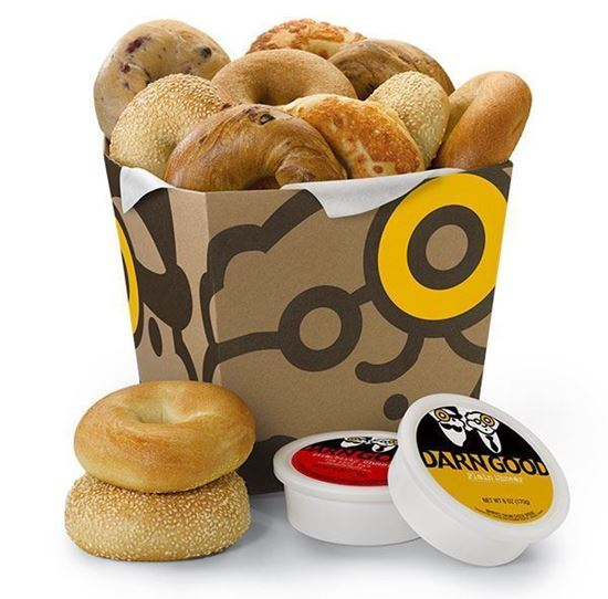 Picture of 6 Bagels and 1 Tub of Schmear